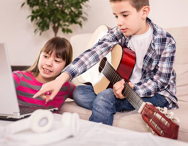 آموزش آنلاین موسیقی در منزل