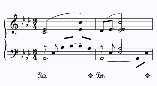 علامت های پدال پیانو